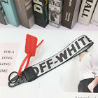 US OFF WHITE Silver Industrial Keychain Belt Strap Phone Lanyard W/Tag option