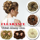 Thick Messy Bun Hair Piece Scrunchie 100% Soft Ponytail Hair Extensions as Human