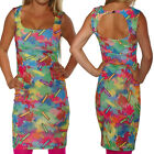 WAX CRAYONS DRESS WIGGLE PENCIL BODYCON SIZE 8-16 ROCKABILLY BACKLESS VINTAGE