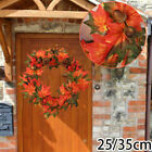 Artificial Autumn Maple Leaves Berry Pine Garland Wedding Halloween Decoration