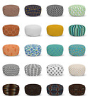 Ambesonne Abstract Theme Ottoman Pouf Decor Soft Foot Rest & Removable Cover