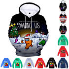 Among Us Print Kid Boy Girl Hoodie Gaming Cool Pullover Jumper Outfit Child Gift