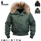 Windbreaker Mens Jacket N2B Winter Tactical Army Military Airsoft Casual Hooded