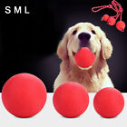 UK_ HB- IG_ Hot Solid Training Toy Rubber Ball Pet Puppy Dog Chew Play Fetch Bit