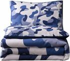 Holawakaka Queen Size Camouflage Comforter Set, Boys Girls Men Camo Quilted Bedd