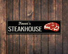 Steakhouse Metal Sign Personalized Restaurant BBQ Chew Cook Kitchen Smoker Gift