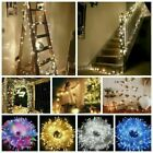 Mains Plug in Fairy String Lights 10-1000 LED Clear Cable For Christmas Tree US