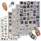 Art Stickers Diy Nail Art Decoration Leopard Butterfly Print Adhesive Decal