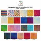 Holographic Sparkle Glitter Iron on Vinyl Sheet (1) | HTV for T Shirts