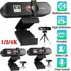 1K 2K 4K Full HD USB Webcam Auto Focus For PC Laptop Web Camera With Microphone