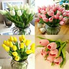 10 Heads Artificial Tulips Flowers Real Touch Bridal Wedding Bouquet Home Decor