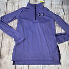 Under Armour Youth Small Medium XL Purple 1/2 Zip Pullover Lightweight NEW