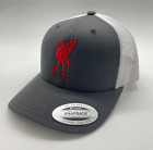 Liverpool FC Red Trucker Cap with Embroidered Logo. Free Worldwide shipping