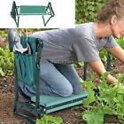 Garden Kneeler and Seat Bench Foldable Stool w/Tool Pouch EVA Foam Pad