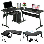Large Gaming Computer Desk Laptop PC Study Table L Shape Home Office...