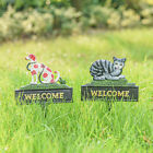 Sungmor Cast Iron Heavy Vintage Yard Standing Welcome Ground Decorative Sign