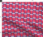 Red Solo Cup Beer Party Football Fabric Printed by Spoonflower BTY