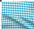 German Beer Blue Diamond Pattern October Funny Spoonflower Fabric by the Yard