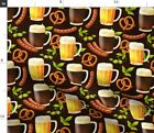 Fall Funny Germany Beer European Drinking German Spoonflower Fabric by the Yard