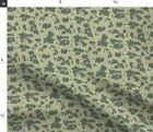 Flowers Pale Green Beer Farming Hops Brewing Spoonflower Fabric by the Yard