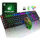 Wireless Gaming Keyboard 7-Color Mouse Set LED Backlit  For PC Computer PS4 Xbox