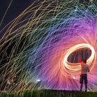 Rainbow Steel Wool Firework Portable Pyrotechnic Kid Child Party Flame Toy NEW