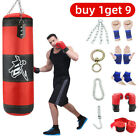 Home Gym Heavy Boxing Punching Bag Training Gloves Speed Set USA