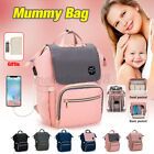 USB Charging Waterproof Baby Nappy Diaper Bag Mummy Stroller Nursing NEW