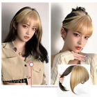 Women White Gold 3D Bang 100 Human Hair Hair Clip In Topper invisible Hairpiece