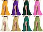 Belly Dance Gothic Maxi Satin Party Wear Skirt One Side Slit Skirt Plus Size S77