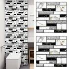 10x 3D Wall Tile Stickers Kitchen Bathroom Mosaic Self-adhesive Decor 30x30cm