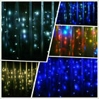 LED Icicle Curtain String Lights Lamps Christmas Wedding Party Indoor Outdoor US