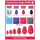 KONG Classic Dog Toy Robust Red Rubber Dog Teething Toy XS S M L XL XXL