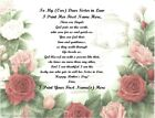 Mother's Day Personalized Gifts ~Personalized Poem 4 a Sister in Law (25 styles)