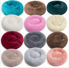 New Pet Dog Cat Calming Bed Warm Soft Plush Round Nest Comfy Sleeping Kennel