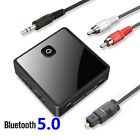 Bluetooth 5.0 Transmitter Receiver Low Latency 3.5mm AUX Jack Optical Stereo