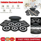 Foldable Electronic Drum Set with Sustain Pedal 2 Loudspeakers for Music Lovers