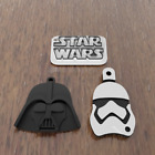 3D Printed Star Wars Keychains Single/3PC Set -  FAST SHIPPING - **MADE IN USA**