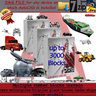 AUTOCAD SOFTWARE DWG FILE ARCHITECTURE BLOCK 2D FOR ALOTOF TRANSPORTATIONS TYPES