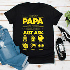 Personalized Best Papa In The Galaxy Custom Unisex T shirt Cotton S-5XL Black