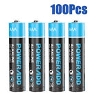 POWERADD 1.5V AA AAA Non-Rechargeable Alkaline Battery 4-100 Pack Lot + Box NEW