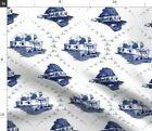 Home Funny Mobile Toile Trailer Trash Redneck Spoonflower Fabric by the Yard