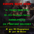 League of Legends EUW Account LOL EUW Unranked Champs Smurf Skins Acc...