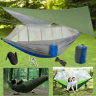 Portable Double Hammock with Mosquito Net Tarp Hanging Bed Outdoor Camping US