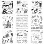 Halloween Christmas Cat Silicone/Clear Stamps Diy Scrapbooking Handmade Crafts