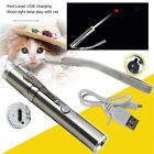 USB Charging Interactive Red Laser Pointer Pen Cat Training Toy Flashlight