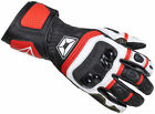 Cortech Chicane RR Leather Gauntlet Motorcycle Glove RED WHITE