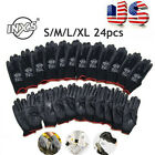 INXS 12 Pairs Work Gloves Polyester Nylon PU For Builders Garden Fishing,US