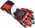 Cortech Apex RR Men's Gauntlet Leather Motorcycle Glove WHITE RED