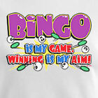 Bingo game women T-Shirt gambling bet retro old winner